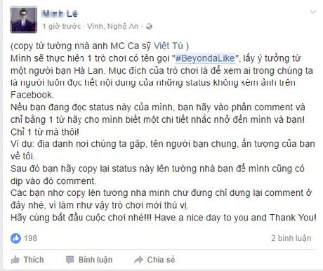 Sau trao luu 'Xin chao', gioi tre facebook ro tro choi 'Beyond A Like' loc ban ao - Anh 1