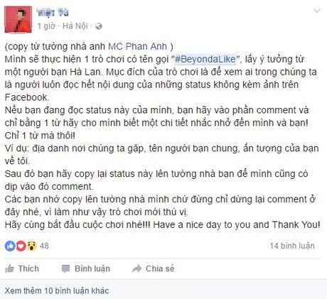 Sau trao luu 'Xin chao', gioi tre facebook ro tro choi 'Beyond A Like' loc ban ao - Anh 3