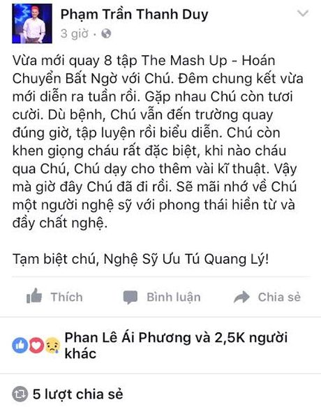 Khong the tin noi NSUT Quang Ly da qua doi - Anh 10