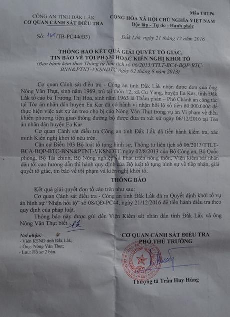Dak Lak: Khoi to vu Pho Chanh an TAND huyen Ea Kar nhan hoi lo - Anh 1