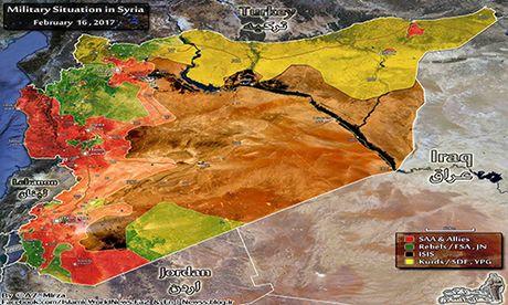 Chien su Syria dau nam 2017: Nong tren nhieu mat tran - Anh 1