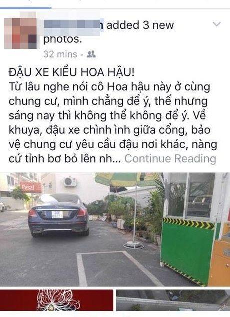 Hoa hau Ky Duyen len tieng 'keu oan' khi bi to do xe vo y - Anh 1
