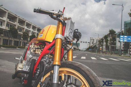 Honda CB750F do cafe racer cuc chat voi tong vang cam Repsol o Sai Gon - Anh 10