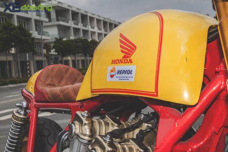 Honda CB750F do cafe racer cuc chat voi tong vang cam Repsol o Sai Gon - Anh 11