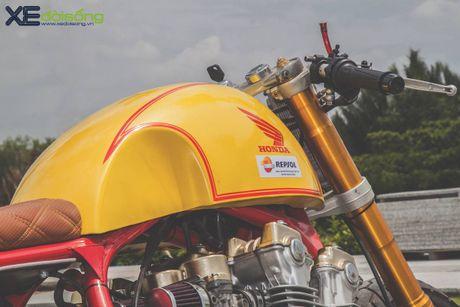 Honda CB750F do cafe racer cuc chat voi tong vang cam Repsol o Sai Gon - Anh 16