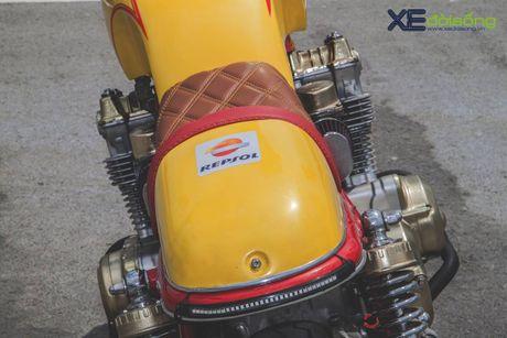 Honda CB750F do cafe racer cuc chat voi tong vang cam Repsol o Sai Gon - Anh 17