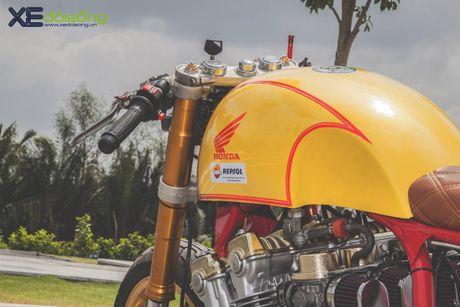 Honda CB750F do cafe racer cuc chat voi tong vang cam Repsol o Sai Gon - Anh 18