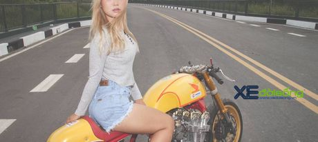 Honda CB750F do cafe racer cuc chat voi tong vang cam Repsol o Sai Gon - Anh 19