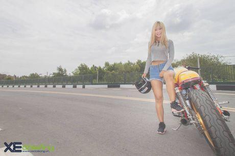 Honda CB750F do cafe racer cuc chat voi tong vang cam Repsol o Sai Gon - Anh 22