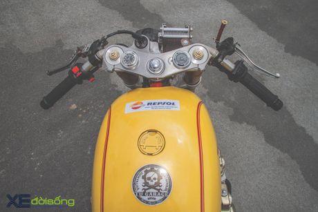 Honda CB750F do cafe racer cuc chat voi tong vang cam Repsol o Sai Gon - Anh 5
