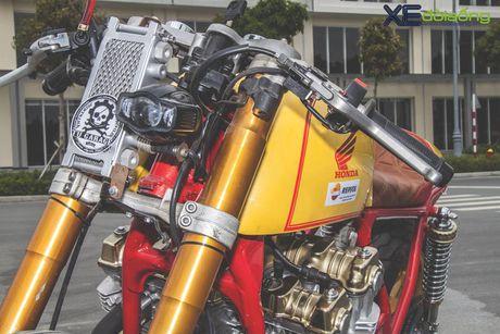 Honda CB750F do cafe racer cuc chat voi tong vang cam Repsol o Sai Gon - Anh 8