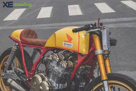 Honda CB750F do cafe racer cuc chat voi tong vang cam Repsol o Sai Gon - Anh 9