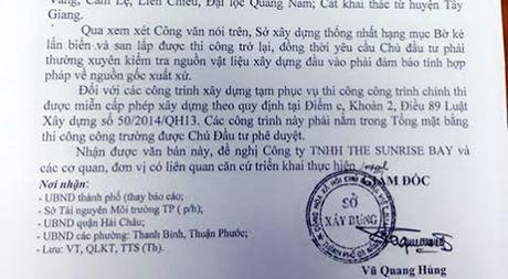 So Xay dung Da Nang cho rang Sunrise Bay lay cat lap bien hop phap - Anh 2