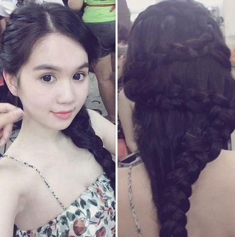 Hoc Mai Phuong Thuy, Ngoc Trinh tet toc song nuoc xinh nhu cong chua - Anh 5