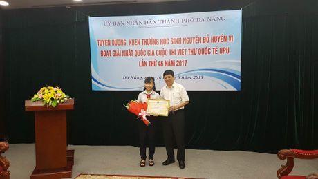 Da Nang: Khen thuong HS dat giai nhat quoc gia viet thu quoc te UPU - Anh 1
