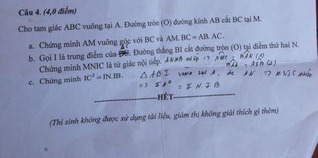 Quang Nam: De thi Toan cho hoc sinh lop 9 bi sai mot phan - Anh 1