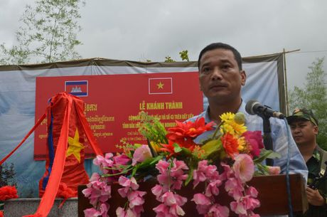 Khanh thanh cot moc bien gioi so 41 va 43 tren tuyen bien gioi Viet Nam – Campuchia - Anh 1