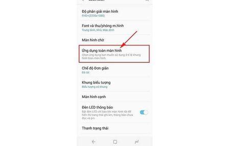 Huong dan kich hoat che do toan man hinh cho ung dung tren Galaxy S8 - Anh 3