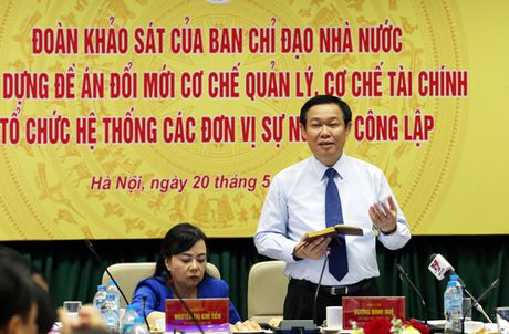 Pho Thu tuong Vuong Dinh Hue lam viec voi Bo Y te, Bo Giao duc&Dao tao - Anh 1