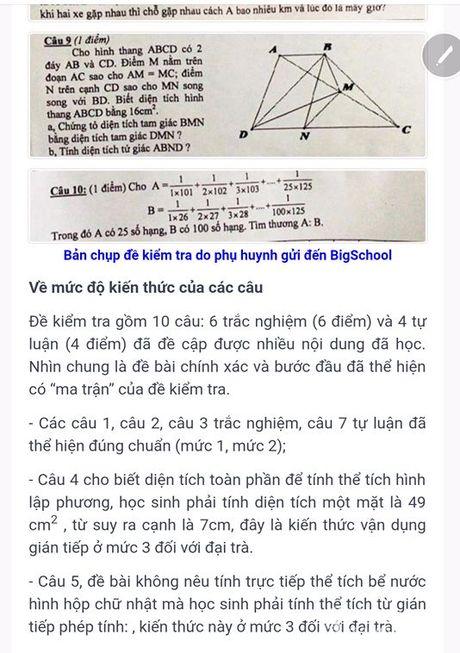 Hoc sinh Thanh pho Vinh 'khoc nhu mua' vi de toan lop 5 qua kho - Anh 2