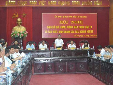 Chu tich Thai Binh Nguyen Hong Dien: Giai quyet thoa dang kho khan, vuong mac cua doanh nghiep - Anh 1