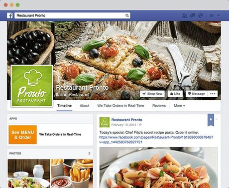 Facebook o My them tinh nang dat mon an - Anh 1