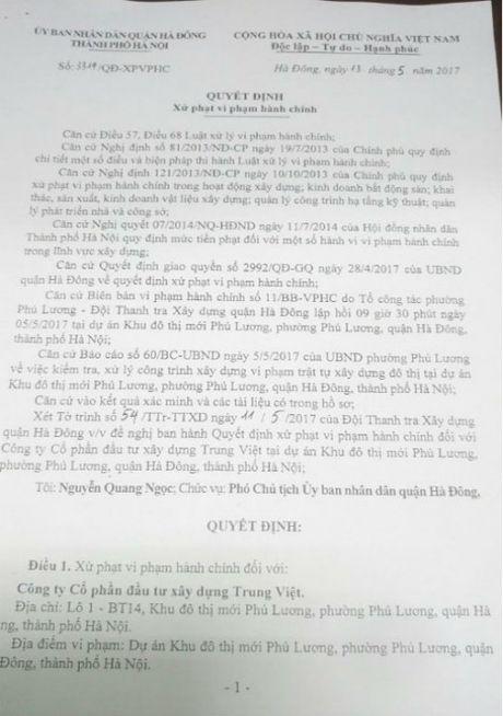 Dung chuong ga bi khoi to, xay biet thu trai phep bi phat tien - Anh 1