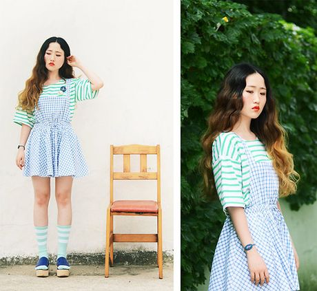 Hoa tiet Gingham - hot trend cho cac co gai he nay - Anh 2