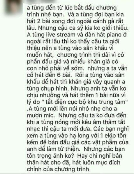 He lo su that sau clip Phan Dinh Tung bi to chen ep, cuop mic cua 'dan em' tren san khau? - Anh 1