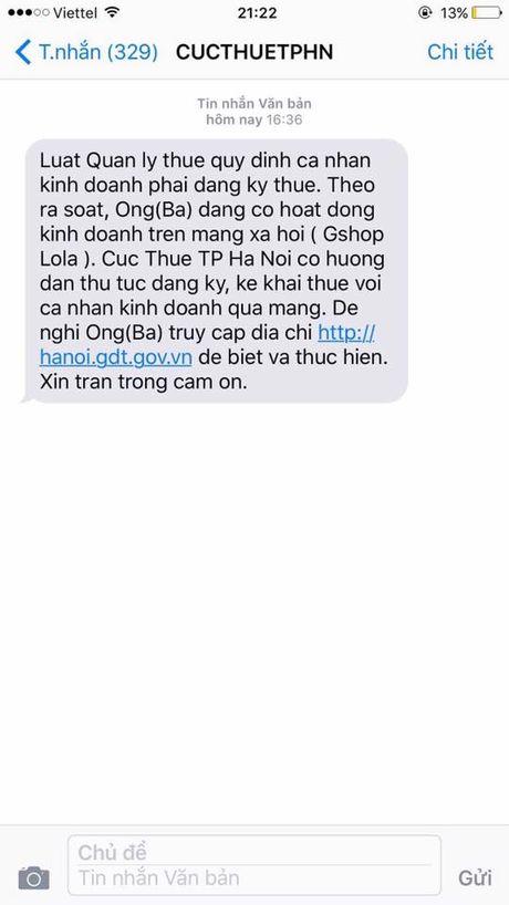 Cuc thue Ha Noi bat dau 'doi' thue nguoi ban hang tren facebook - Anh 1