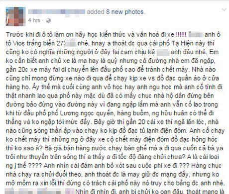 Mua lut, tai xe o to phong xe vo y thuc cuon troi ba lao ban hang nuoc - Anh 1