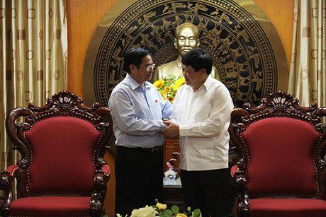 Ong Pham Minh Chinh chuc mung VOV nhan dip 21/6 - Anh 2
