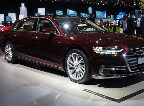 Audi A8 2018 ra mat: Truc co so dai va vo van tien ich hap dan - Anh 1