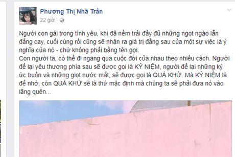 Nha Phuong chia se la, ro nghi van chia tay Truong Giang - Anh 1