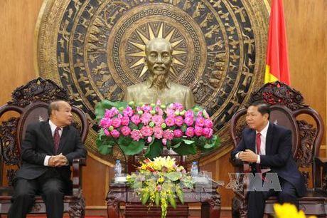 Doan Bo Le nghi va ton giao Vuong quoc Campuchia tham tinh Long An - Anh 1