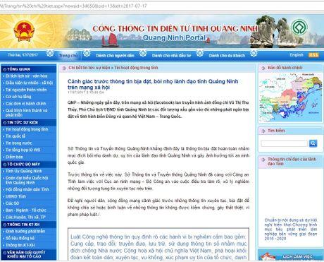 Bo Cong an 'vao cuoc' vu dung facebook boi nho Pho Chu tich tinh Quang Ninh - Anh 1