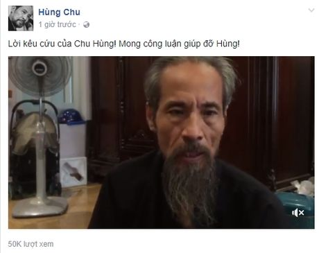 Ong trum The Chot - dien vien Chu Ngoc Hung len tieng keu cuu tren facebook - Anh 3