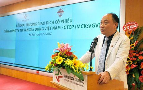 Khai truong phien giao dich dau tien co phieu Tong Cong ty Tu van Xay dung Viet Nam - CTCP - Anh 1