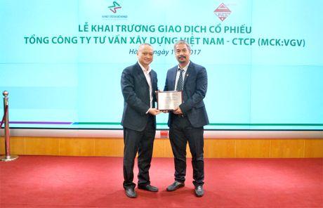 Khai truong phien giao dich dau tien co phieu Tong Cong ty Tu van Xay dung Viet Nam - CTCP - Anh 6