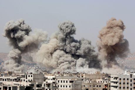 Trung tam chi huy cua IS sup do do trung hoa luc tu quan doi Syria - Anh 1