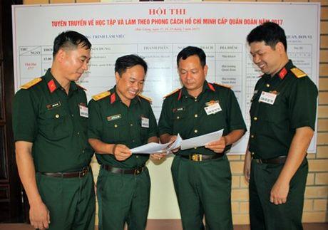 Quan doan 2 khai mac Hoi thi tuyen truyen ve hoc tap va lam theo phong cach Ho Chi Minh - Anh 1