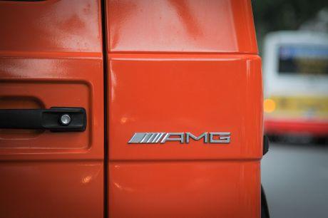 Mercedes G63 AMG mau cam noi bat tren duong pho Ha Noi - Anh 6