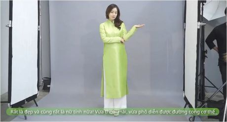 Mac ao dai Viet Nam, Kim Tae Hee de lo bung bau 5 thang dang yeu - Anh 3