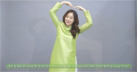 Lan dau mac ao dai, ba bau Kim Tae Hee xinh dep diu dang nhu phu nu Viet - Anh 3