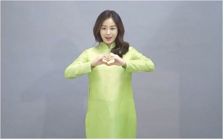 Lan dau mac ao dai, ba bau Kim Tae Hee xinh dep diu dang nhu phu nu Viet - Anh 4