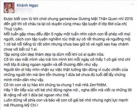 Khanh Ngoc len tieng ben vuc Phuong My Chi truoc lum xum cua gia dinh - Anh 1