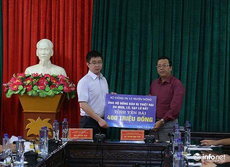 Bo truong Truong Minh Tuan thi sat cuu ho, trao qua cuu tro nguoi dan Yen Bai - Anh 4