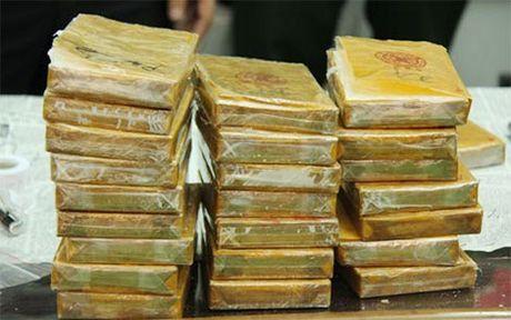 Doi tuong giau 30 banh heroin trong thung loa - Anh 1