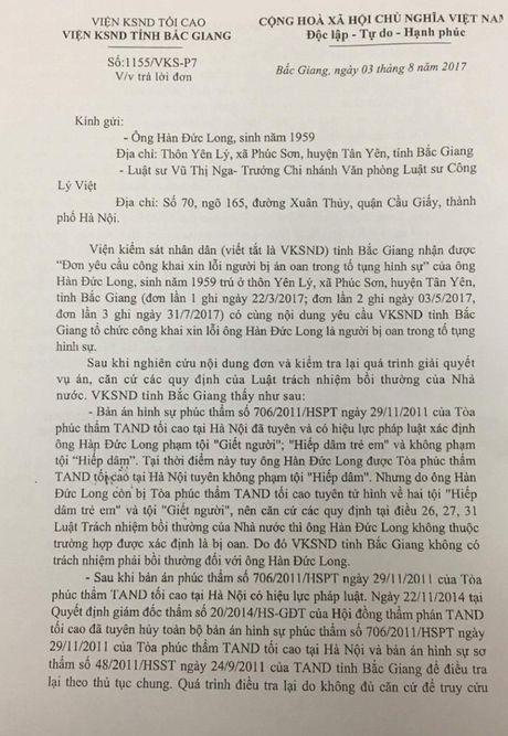 Vien KSND Bac Giang bac yeu cau doi xin loi cua ong Han Duc Long - Anh 3