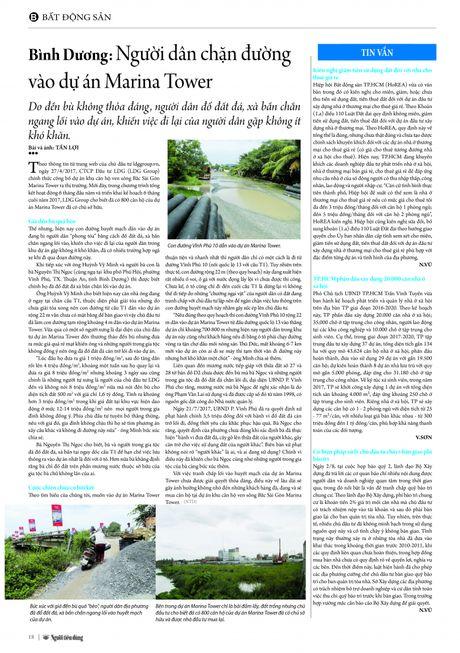Binh Duong: Nguoi dan chan duong vao du an Marina Tower - Anh 4